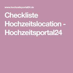 Checkliste Hochzeitslocation - Hochzeitsportal24