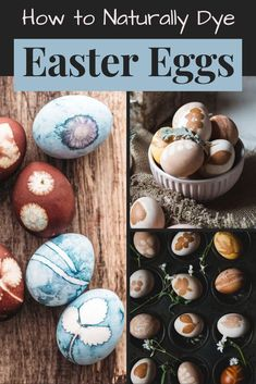 How to Dye Easter Eggs Naturally (Using Food Ingredients As Natural Dyes) & Easter Egg Design Techniques to Try! Learn how to dye Easter eggs naturally using food ingredients as natural, plant-based dyes to craft Easter holiday DIY home decor, spring decorations or edible Easter treats for Easter baskets. Plus unique Easter egg design ideas using foraged botanicals or store bought herbs. #eastereggs #diyhomedecor #holidays #diy #springdecor