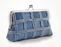 Embrague de patchwork de denim por sirtom en Etsy