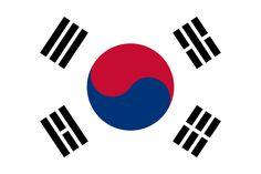 Bandera de la República de Corea.