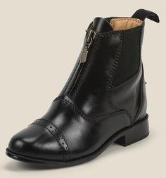 Youth Paddock Boots, Kids Riding boots, Kids horse riding, horse riding gear, kids, black leather kids boots http://justineq.com/#youthPaddock