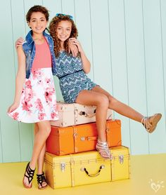Because you'll never forget what you wore during the best spring break EVER! Girls Dresses Tween, Tween Girls, Preteen Fashion, Kids Fashion, Cute Girl Outfits, Kids Outfits, Moda Junior, Girls Sports Clothes, Latest Summer Fashion