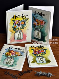 Thanks so much cards by Zarah - Paper Smooches