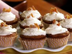 Five Spice Pineapple Carrot Cupcakes from FoodNetwork.com
