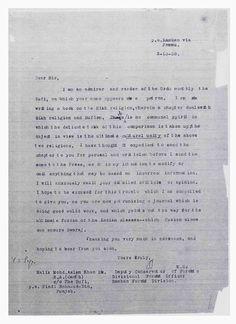 Sikh Digital Library: Bhai Sher Singh MSc Kashmir's October 3, 1928, let...