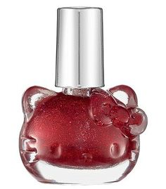 Hello Kitty Liquid Nail Art by Sephora - Red Sparkle Hello Kitty Nail Polish, Hello Kitty Makeup, Hello Kitty Items, Beauty Sale, My Beauty, Liquid Nails, Candy Apple Red, Red Apple, Japanese Nail Art