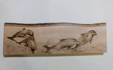 Dolphins. Hand made. 14.76 X 4.72 inches. #ad