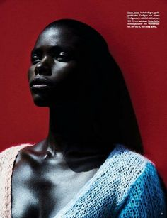 Jeneil Williams in 'Cocoon' by Julia Noni for Vogue Germany, September 2013, styling: Kathrin Schiffner