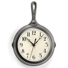 It's TIME for farmhouse-cool! Genuine Lodge cast iron skillet turned into a vintage-style kitchen clock. Only at Lehmans.com and our store in Kidron.
