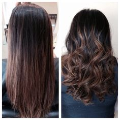 Balayage looks beautiful straight of curly Katrina Vetere -colorist