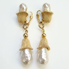 1964 Sarah Coventry Fashion Parade Clip Earrings by redroselady