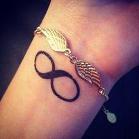 have an infinity tatoo & angel bracelet