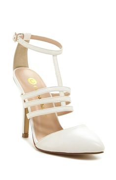 FOR THE SHOES || White closed toe Chase Chloe Megan T-Strap Pump || NOVELA...where the modern romantics play and plan the most stylish weddings...Instagram: @novelabride