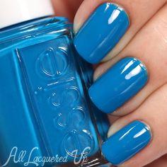Essie Make Some Noise nail polish swatch  - Neon 2015 via @alllacqueredup
