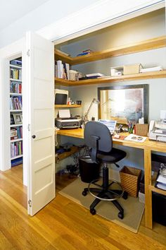 Closet Office In A Dining Room