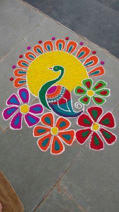Easy Rangoli Designs Diwali, Simple Rangoli Designs Images, Beautiful Rangoli Designs, Mehndi Design Photos, Mehndi Designs, Indian Rangoli, Creative Embroidery, Love Drawings, Types Of Art