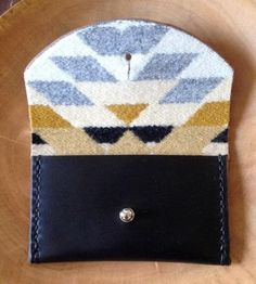 Lined Leather Card Pouch by Moniker Goods on Scoutmob Shoppe