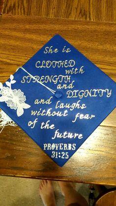 Graduation cap Bible verse