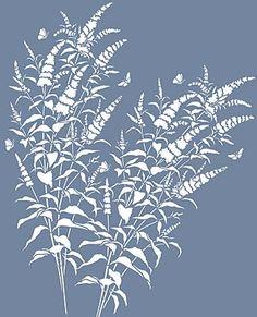 Buddleia Butterfly Bush Stencil
