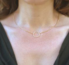 Gold Necklace circle