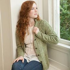 Cabled Faux Argyle Cardi by Stephannie Tallent. $4.99 download from KnitPicks