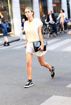 Street style sneaker chic