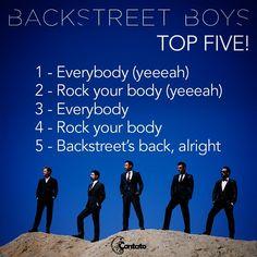 Backstreet Boys VEM PRO BRASIL EM 2015! Fizemos um top five com nossas músicas preferidas! #BackstreetBoys #TopFive #Brasil #BSB #BSBnoBrasil  http://contato.ms/5uA