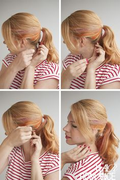 Hair Romance - long ponytail hair tutorial trick
