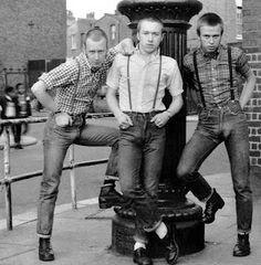Skin heads in London. 1980's
