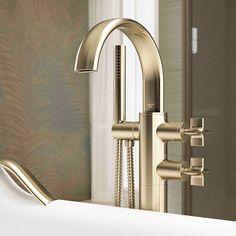 New Bathroom Trends- Metallic Roca Bathroom, Bath Mixer, Bath Taps, Bathroom Trends, Door Handles, Wall Lights, Sink, Flooring, Bathrooms