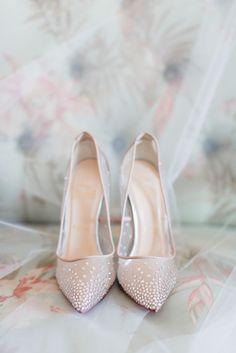 Christian Louboutin Ivory Beaded Illusion Shoes | Posh PR | The Herringtons | Annamarie Akins Photography https://www.theknot.com/marketplace/annamarie-akins-photography-richmond-va-528564