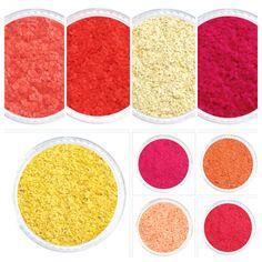 Glitties Nail Art: 18 New Solvent Resistant Glitters Painted Nail Art, Acrylic Nail Art, Glitter Nail Art, Gel Nail Art, Gel Nails, Manicure, Cosmetic Grade Glitter, Orange Glitter, Everything Pink