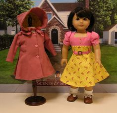 American Girl Vintage style dress hat and coat  by cupcakecutiepie