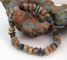 Petoskey stone and Leland bluestone chip stretchy by rwilberg, $27.00 rwilberg.etsy.com