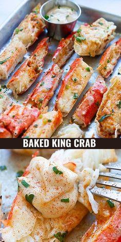King Crab Recipe, Crab Legs Recipe, I Love Food, Good Food, Yummy Food, Tasty, Crab Recipes, Healthy Seafood Recipes, Lobster Recipes