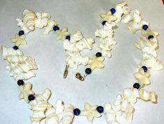 1 Muschelkette mit Lapisperlen 53 cm von MeinSchmuck auf Etsy
