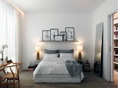 4 Experienced Clever Tips: Minimalist Home Bedroom Interior Design minimalist kitchen blue simple.Minimalist Home Organization Bookshelves minimalist bedroom master rugs. My Ideal Home, Home, Home Bedroom, Bedroom Interior, Modern Bedroom, Small Bedroom, Peaceful Bedroom, Creative Bedroom, Minimalist Home