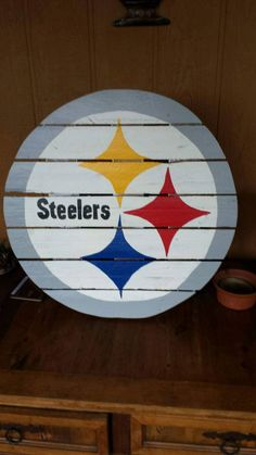 Pittsburgh Steelers sign made from recycled by MonicasFavThings