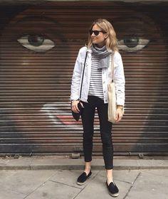 @roressclothes closet ideas #women fashion outfit #clothing style apparel White Denim Jacket