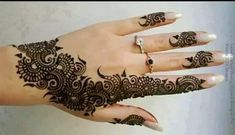 Explore latest Mehndi Designs images in 2019 on Happy Shappy. Mehendi design is also known as the heena design or henna patterns worldwide. We are here with the best mehndi designs images from worldwide. Henna Hand Designs, Eid Mehndi Designs, Rajasthani Mehndi Designs, Mehndi Designs Finger, Beginner Henna Designs, Mehndi Designs For Girls, Stylish Mehndi Designs, Mehndi Designs For Fingers, Bridal Henna Designs