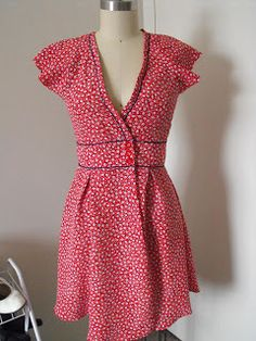 Ruby Murrays Musings: Hand-me-Down Horror No. 3 - 80's Frock coat to 40's style swing dress