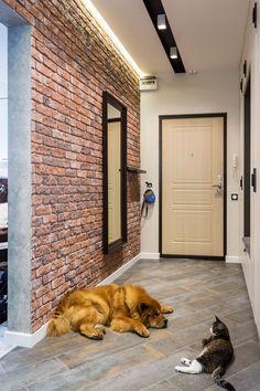 Pin by Natali on Home decor in 2020 Loft Interior, Country Interior Design, Brick Interior, Bathroom Interior Design, Interior Design Living Room, Narrow House Designs, Hallway Designs, Design Loft, Home Room Design