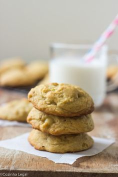 Cookies de macadâmia e chocolate branco | cozinhalegal.com.br
