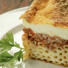 Home-made Pastitsio - iCookGreek Pastichio Recipe, Greek Pastitsio, Food Network Recipes, Cooking Recipes, Pizza Recipes, Dinner Recipes, Cypriot Food, The Kitchen Food Network, Eat Greek