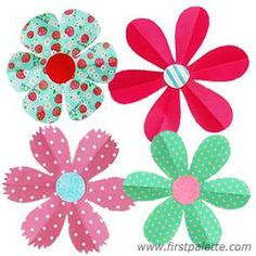 Folding paper flowers craft petal flowers perfect for springtime folding paper flowers craft 6 petal flowers mightylinksfo