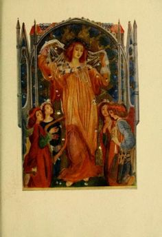 Illustration taken from 'La Vita Nuova' by Dante Alighieri. Translated by Dante Gabriel Rossetti and illustrated by Evelyn Paul 1915
