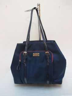 Tommy Hilfiger Handbags Tote 6929437 423 Navy Blue Red Gold Retail $99.00 #TommyHilfiger #TotesShoppers