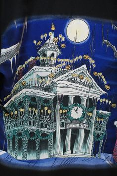 Disney Nightmare Before Christmas Jack Haunted Mansion Men Shirt Small PreOwned  #DisneyWorldExclusive