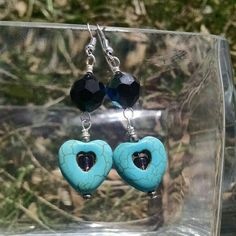 Check out this item in my Etsy shop https://www.etsy.com/listing/231711838/turquoise-magnesite-heart-earrings-with