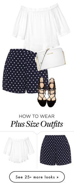 """Untitled #2713"" by carmelaromio on Polyvore featuring Zizzi, Rebecca Taylor, Marc Fisher and Michael Kors"